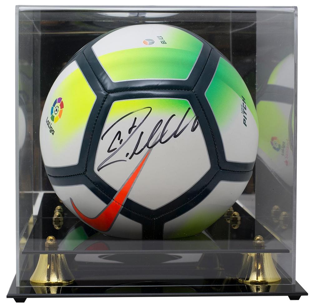 Cristiano Ronaldo Real Madrid Signed Nike Soccer Ball BAS K35305 w  Acrylic  Case dcdcd8b96