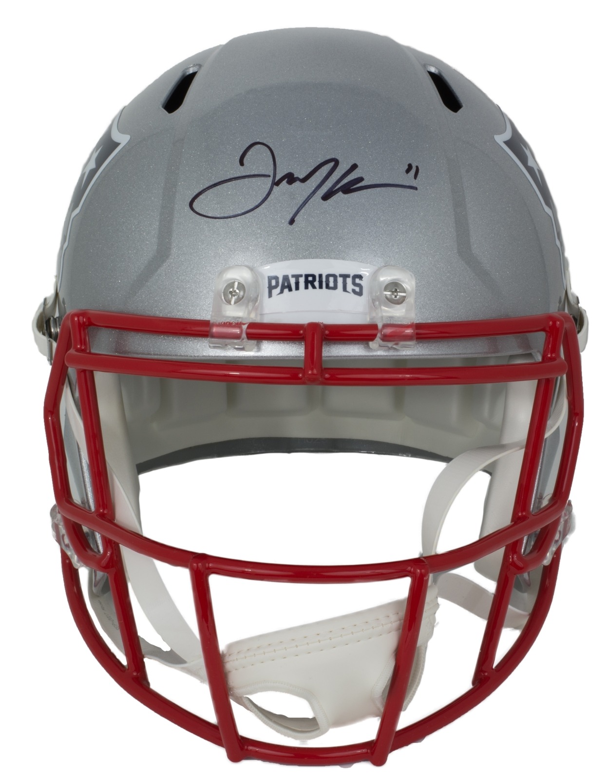 Details about Julian Edelman Signed New England Patriots Full Size Speed Replica  Helmet JSA 442d60b14