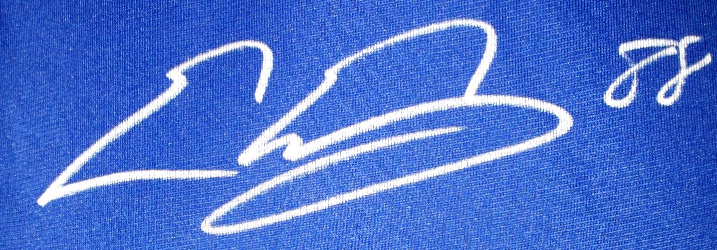 4c95be455 Evan Engram Signed New York Giants Blue Nike Game Jersey JSA