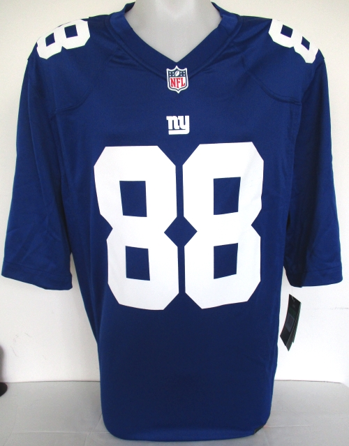 newest a36e2 89c98 Details about Evan Engram Signed New York Giants Blue Nike Game Jersey JSA