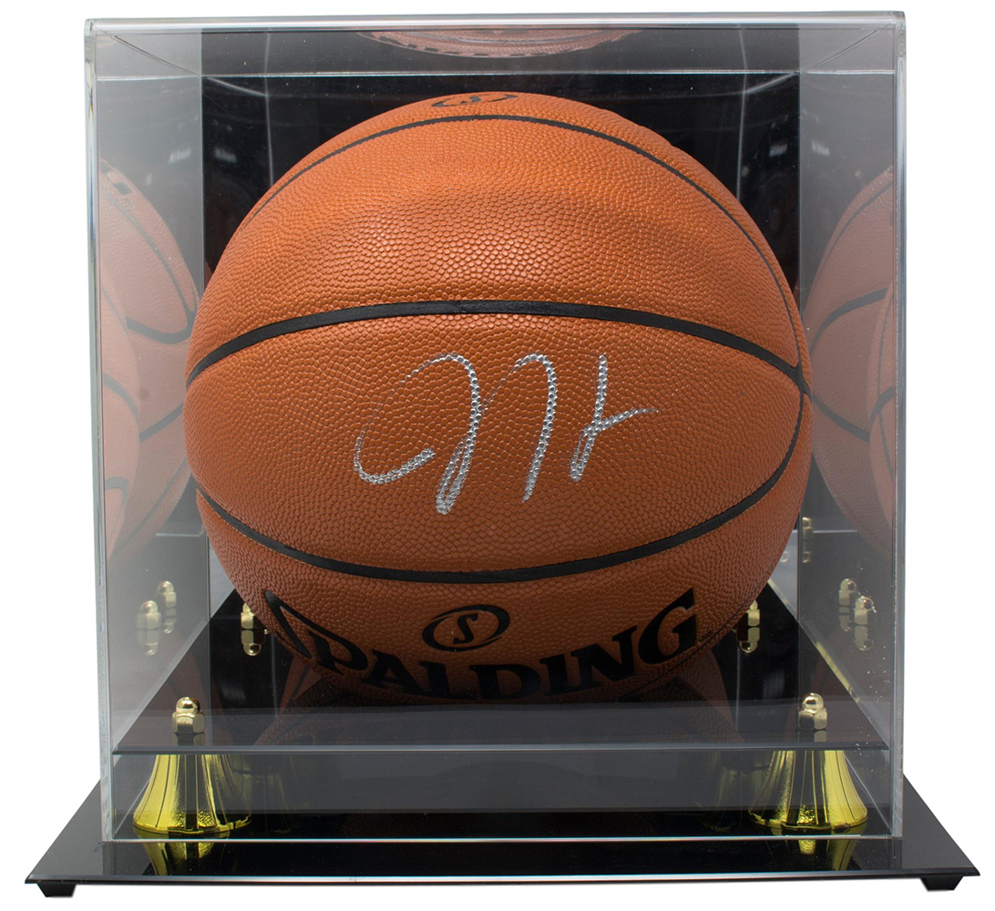 c56f4a9231f James Harden Houston Rockets Signed Spalding NBA Basketball BAS w  Acylic  Case