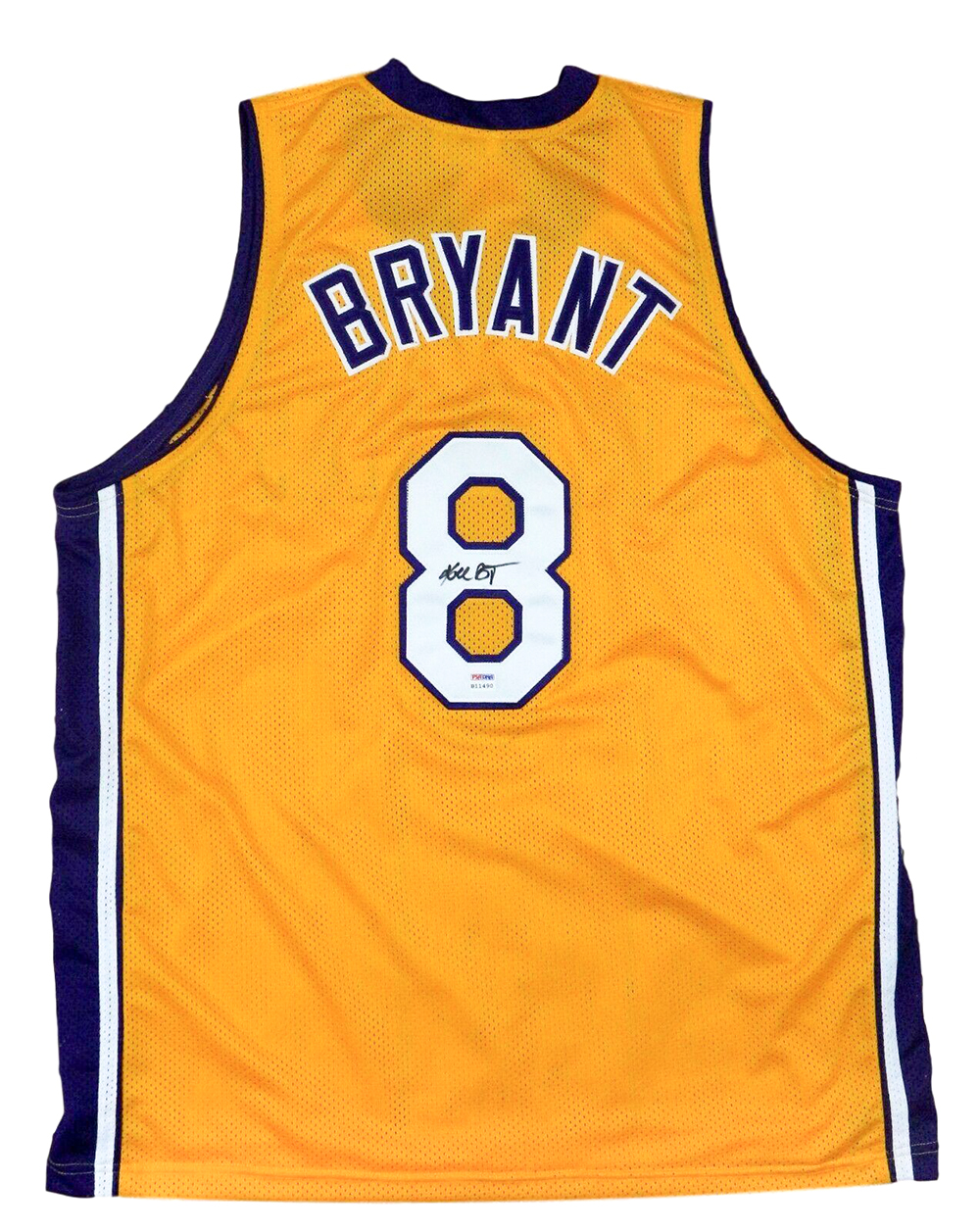 reputable site 396c6 c785e Details about Kobe Bryant Signed Custom Yellow Los Angeles Basketball  Jersey PSA/DNA