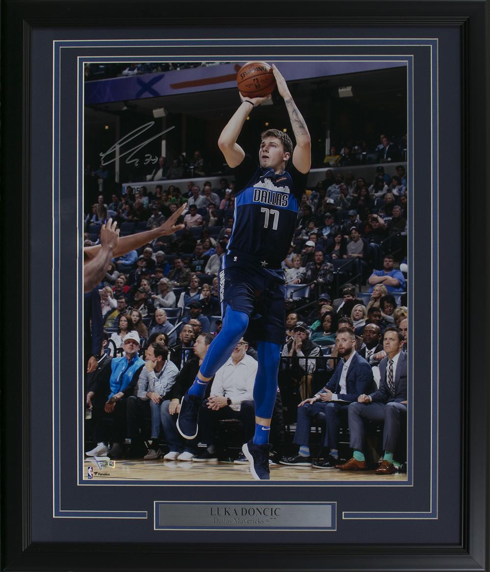 060cf474 Luka Doncic Signed Dallas Mavericks Framed 16x20 Photo Fanatics   eBay