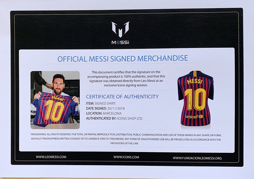 81dd387d0e8 Description. Featured is a Lionel Messi signed Nike Barcelona soccer jersey  ...