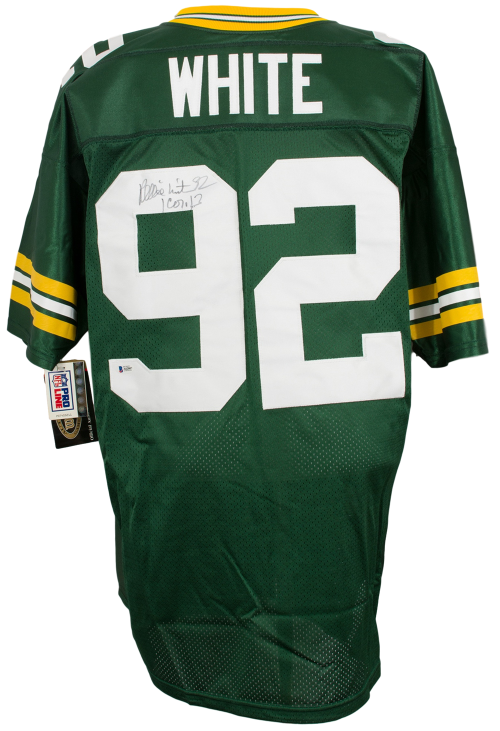 new concept a4a50 26ed4 Details about Reggie White Signed Authentic Wilson Green Bay Packers  Football Jersey Insc. BAS