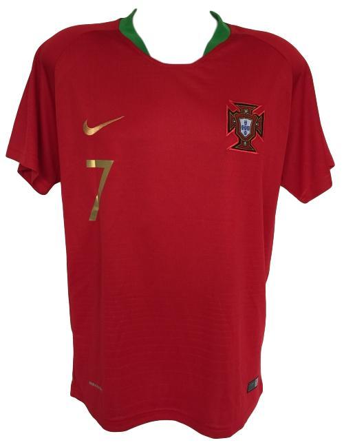 b6d4fd6c2c6 Cristiano Ronaldo Signed 2017/18 Nike Portugal Soccer Jersey BAS | eBay
