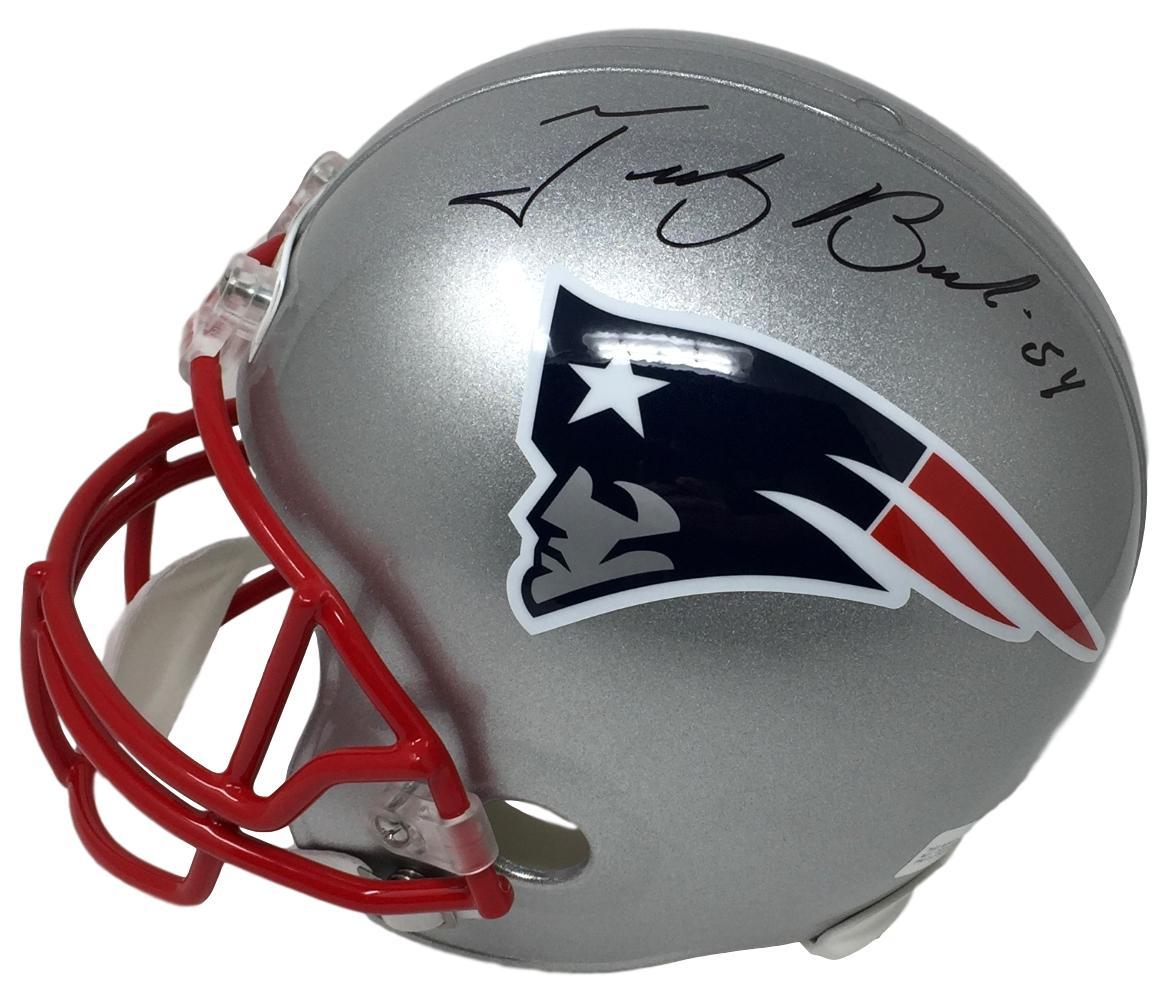 Tedy Bruschi Signed Left Full Size New England Patriots Replica Helmet JSA  ITP c1306d3a6