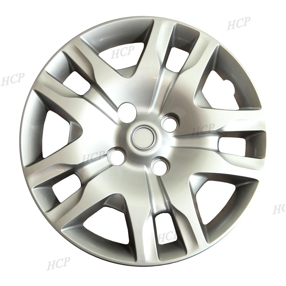new 16 silver hubcaps wheel rim covers fits 2007 2012 nissan sentra set of 4 ebay. Black Bedroom Furniture Sets. Home Design Ideas