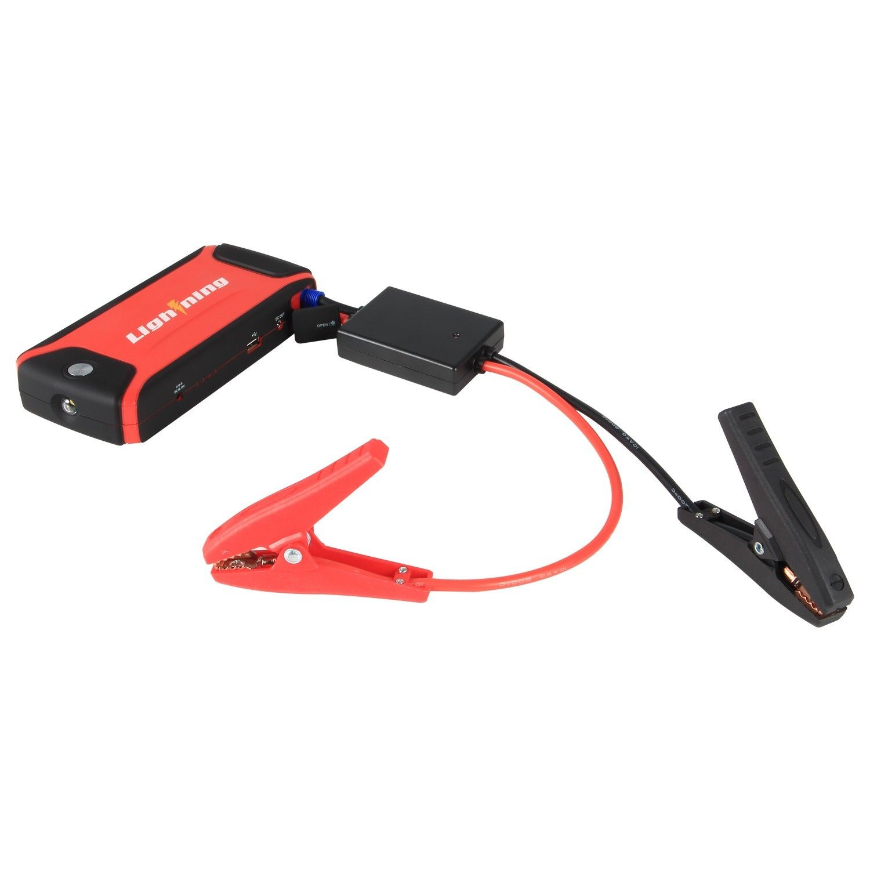DEWALT 1400 Peak Amp Jump Starter with Digital Compressor ...  |Power Source Jump Starter Lightning