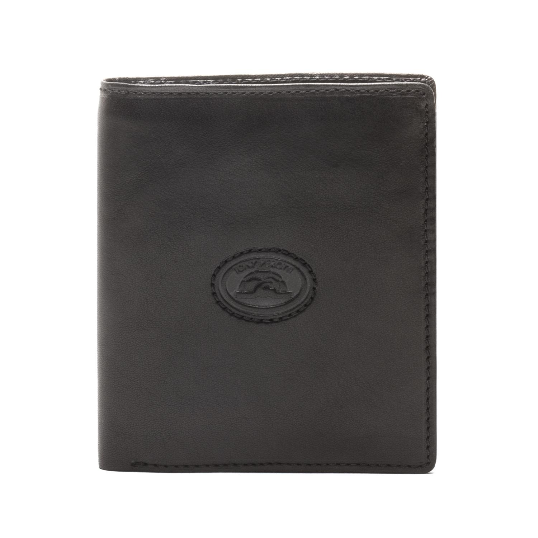 650b793fd1ec3d Tony Perotti Italian Cow Leather Vertical Bifold Wallet w/ ID Window Flap