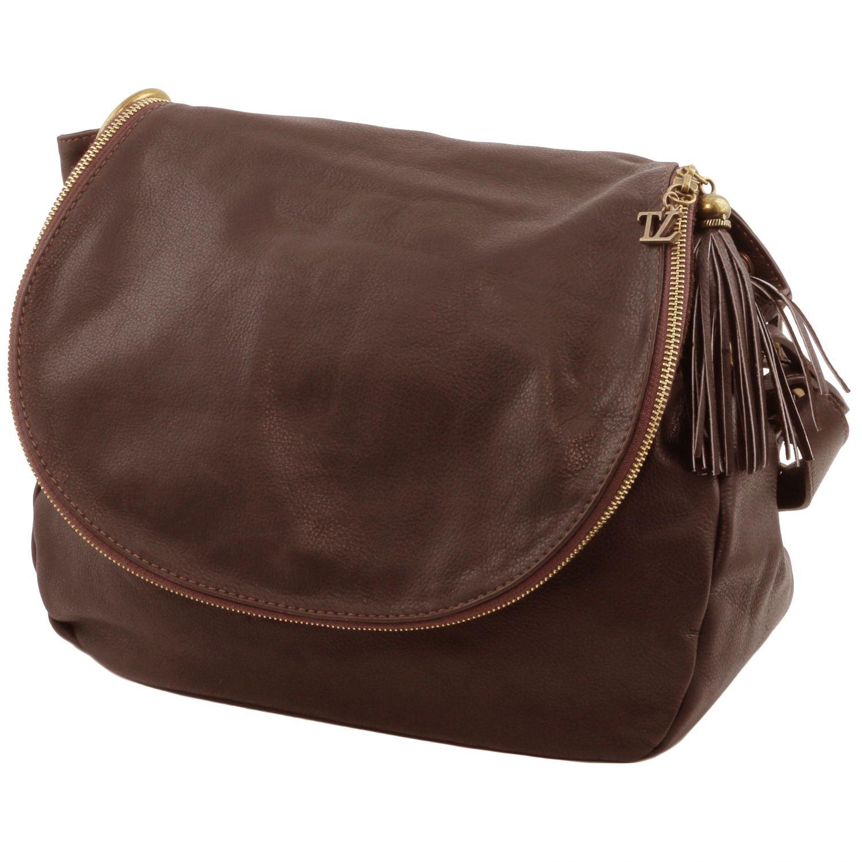 97484ecf019e Tuscany Leather TL Bag - Soft Leather Shoulder Bag with Tassel ...