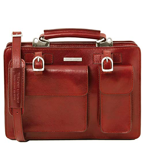 Rouge Main Cuir Sac Grande Femmes Tuscany Sacs Taille Tania À Leather nwzqxFCf
