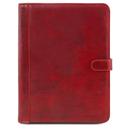 Tuscany Leather Adriano - Cuir Porte-Documents avec Fermeture Bouton red