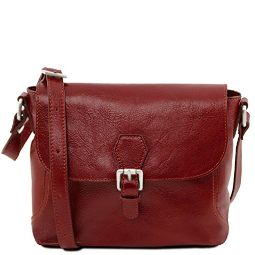 36d0db30fe Image is loading Tuscany-Leather-Jody-Leather-shoulder-bag-with-flap-