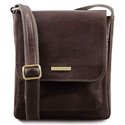 Caricamento dell immagine in corso Tuscany-Leather-Jimmy-pelle-Borsa-a- Tracolla-per- 3b4614240ea