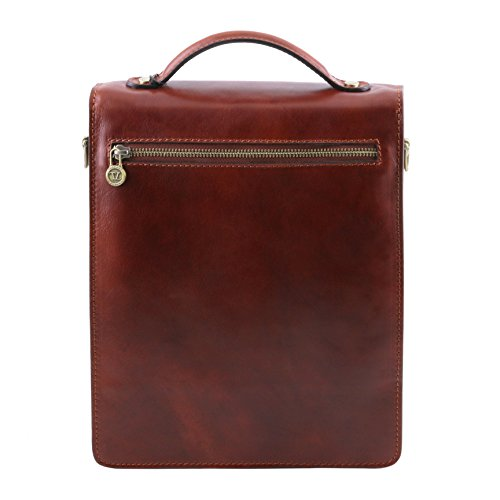 Tuscany Marron Leather Cuir David Grande Sac Bandoulière Taille CarCwBqx