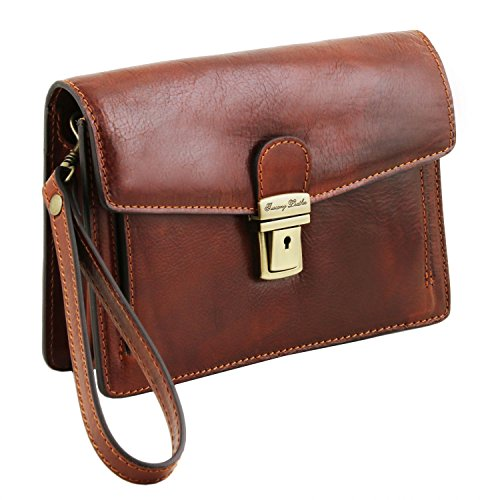 Leather Tuscany Cuir Main Poignet Pour Tommy Exclusive Homme À Sac De rgdxgqtAw