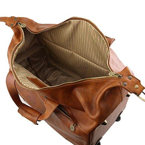 Barbados Foncé Tl141537 Cuir Trolley Leather marron Sac Tuscany z5xvqSCRwn