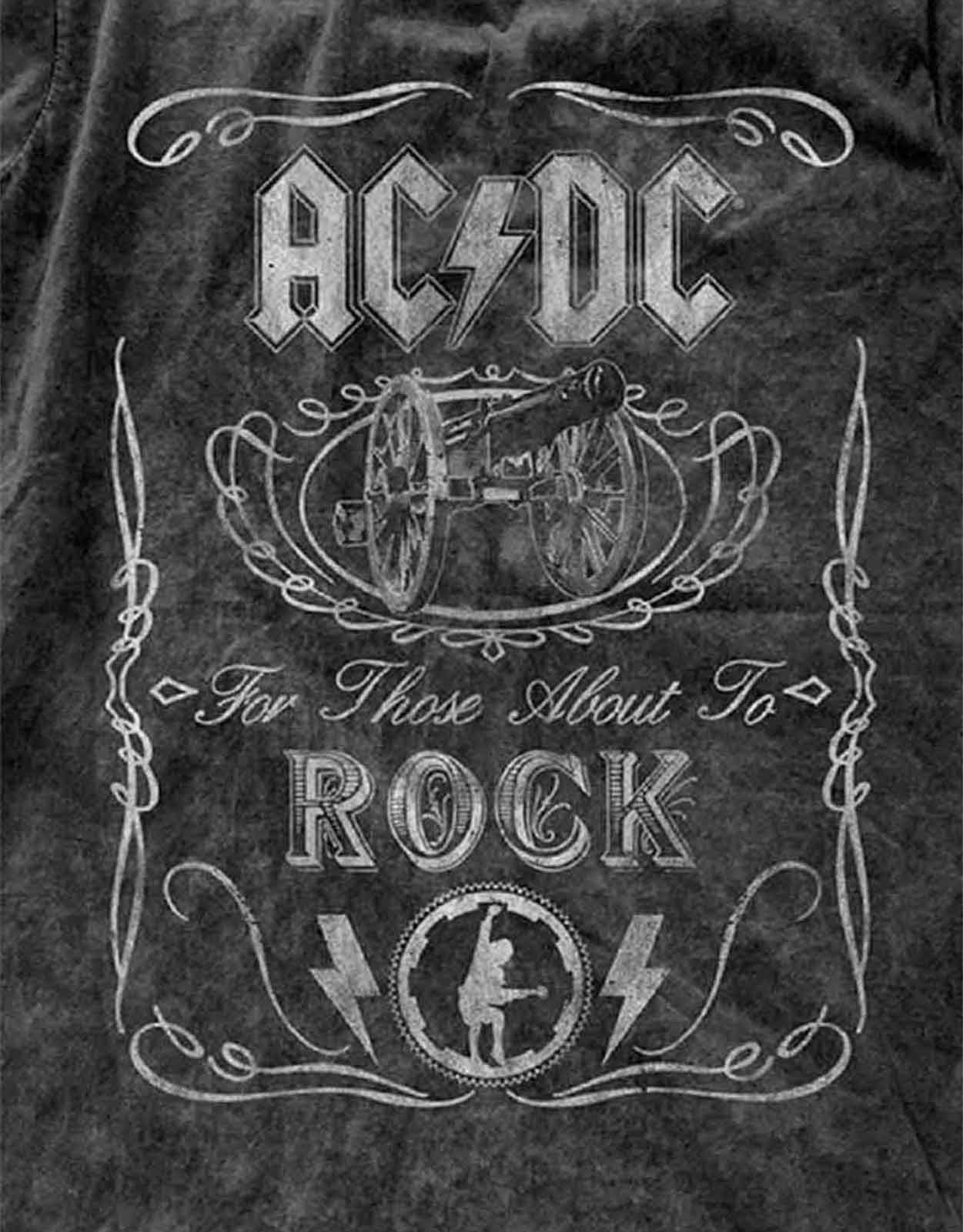 AC-DC-T-Shirt-Womens-Rock-Or-Bust-Band-Logo-About-to-Rock-Official-Skinny-Fit thumbnail 3