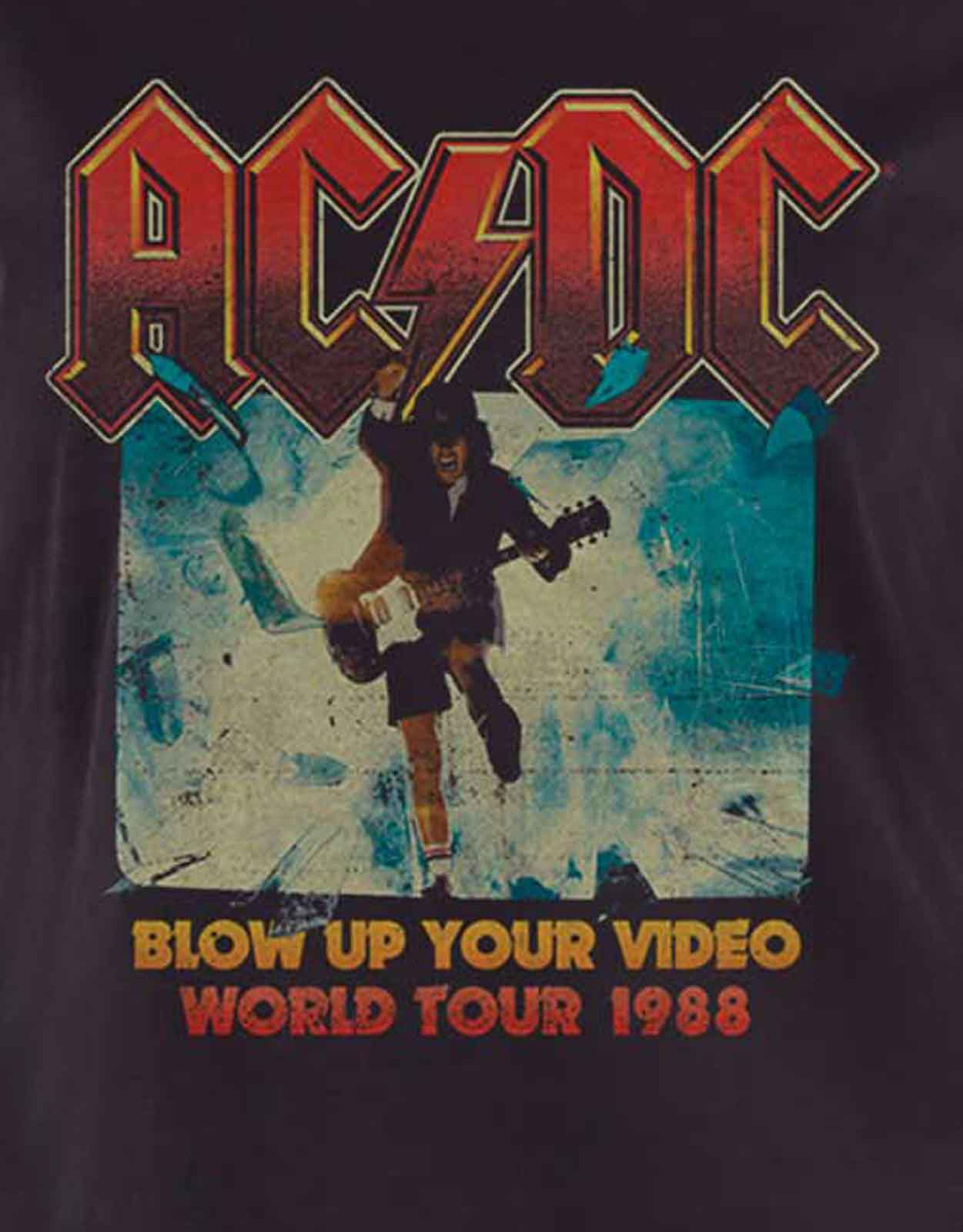 AC-DC-T-Shirt-Womens-Rock-Or-Bust-Band-Logo-About-to-Rock-Official-Skinny-Fit thumbnail 8