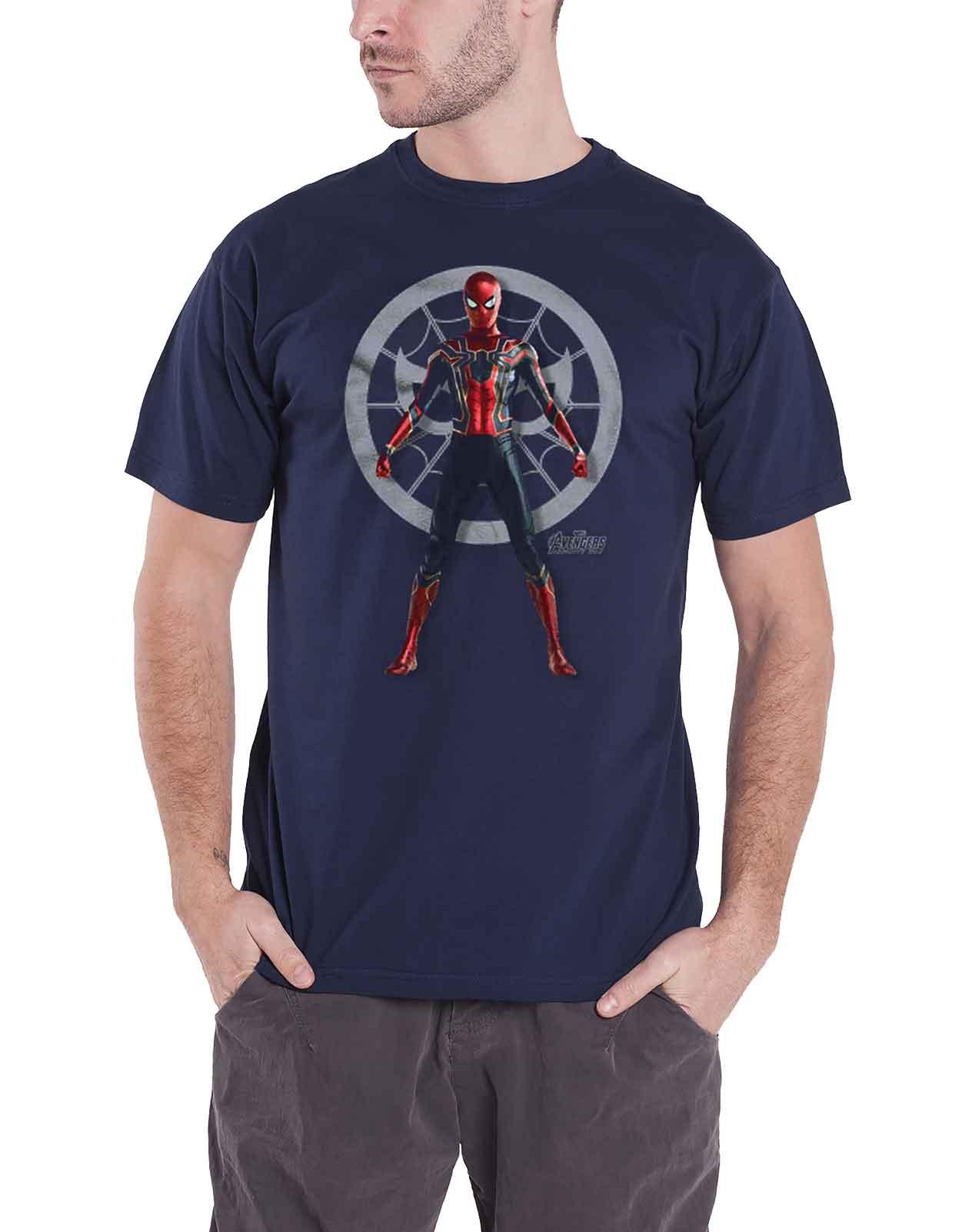 340d50a4c Avengers Infinity War T Shirt Spiderman stance new Official Marvel ...