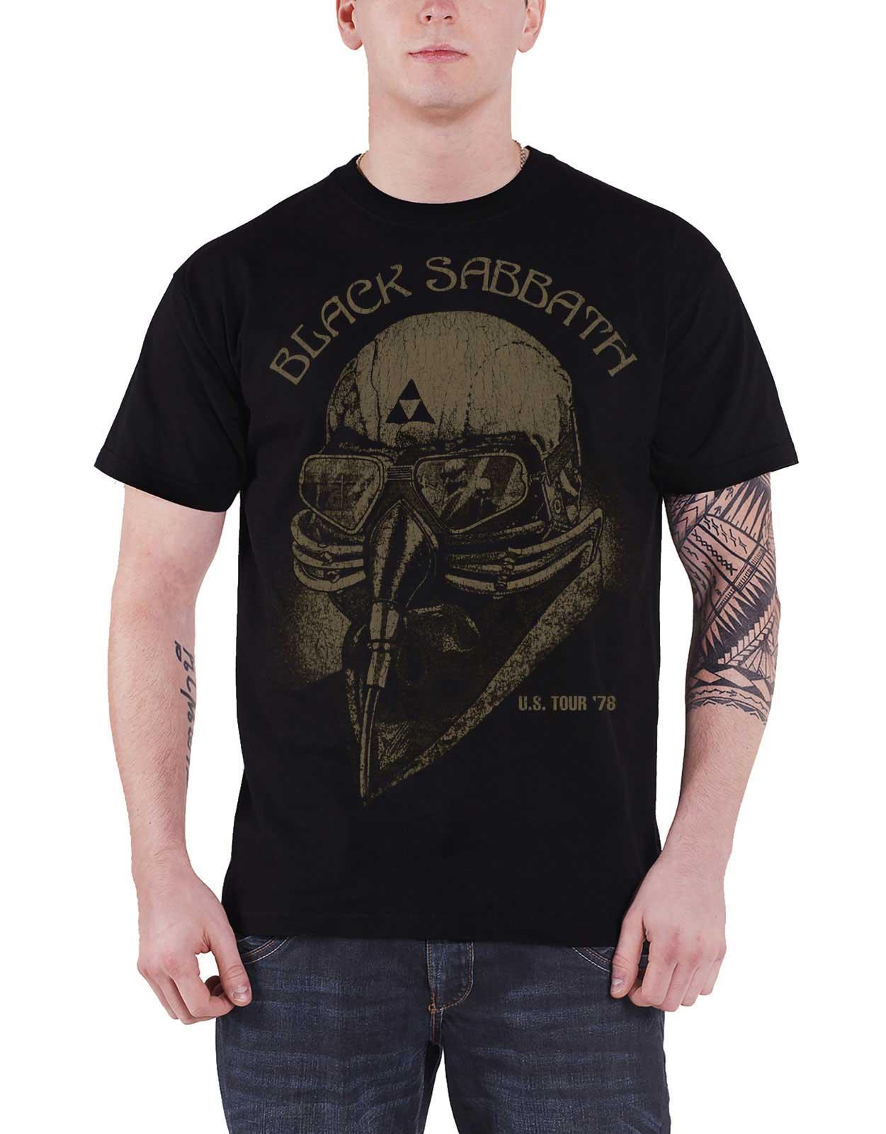 a4f5d9e1c31 Black Sabbath T Shirt US Tour 78 band logo new Official Mens Vintage Black  Size