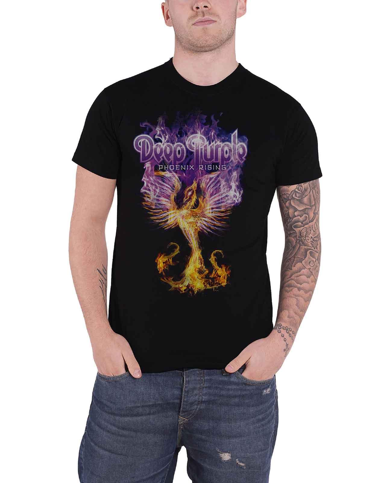 Officiel-Deep-Purple-T-Shirt-Fireball-Stormbringer-Burn-Japan-Tour-Homme-Nouveau miniature 2