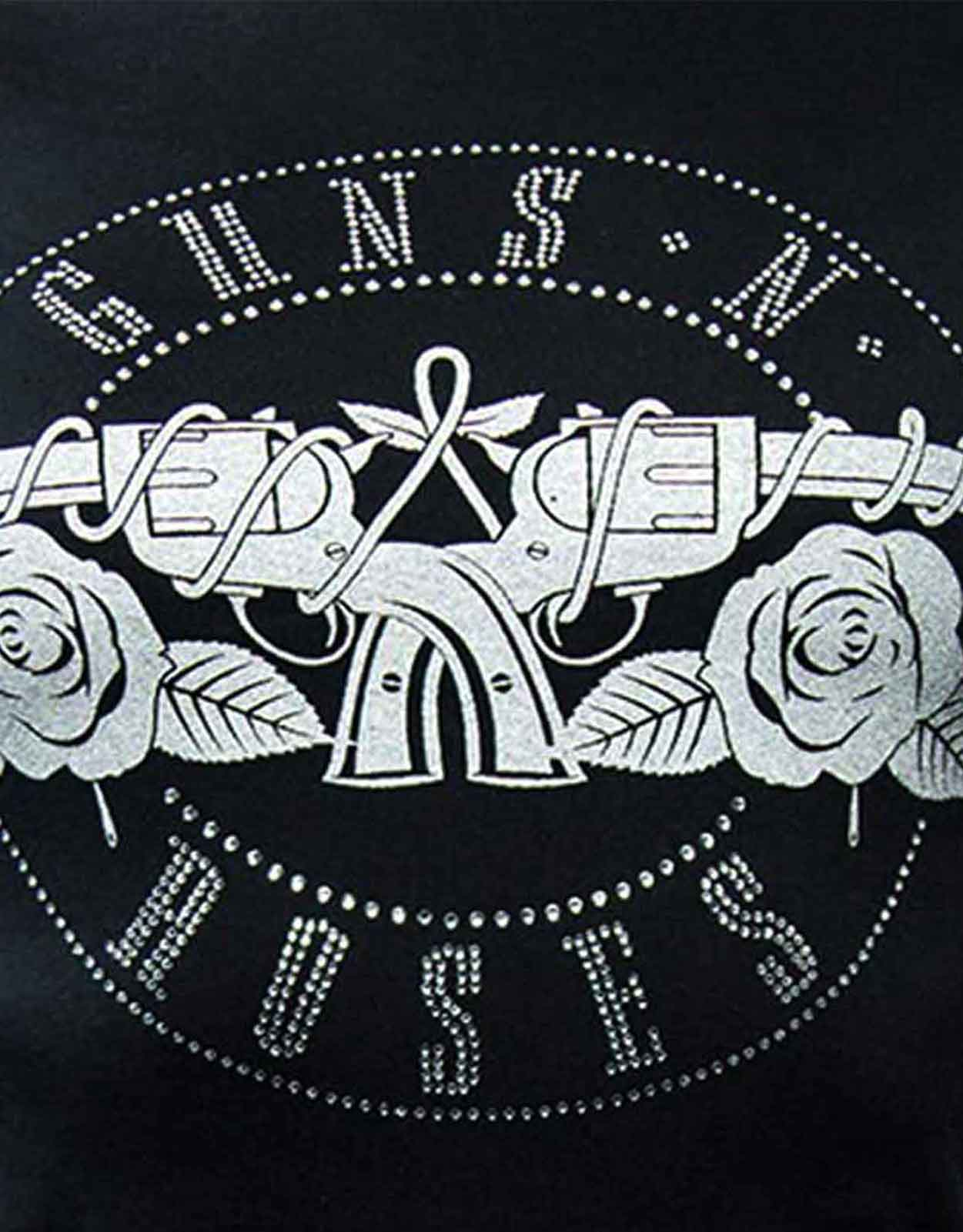 Guns-N-Roses-T-Shirt-Appetite-Bullet-band-Logo-Official-Womens-Skinny-Fit thumbnail 11