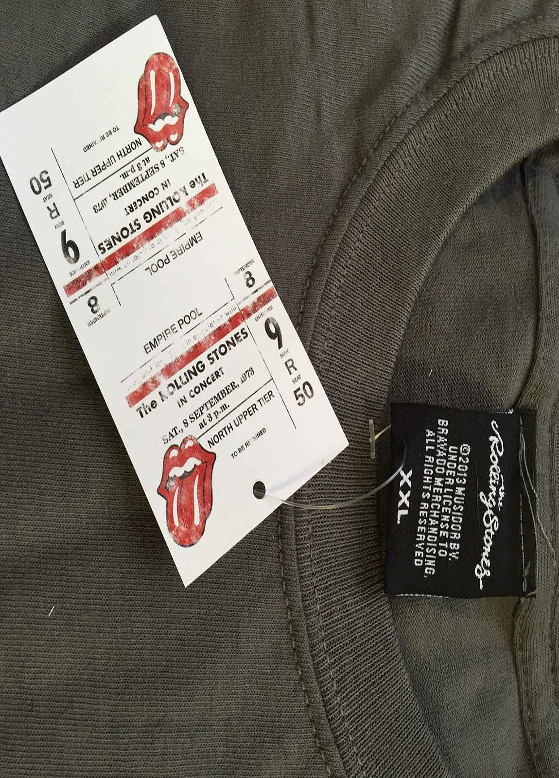 The-Rolling-Stones-T-Shirt-womens-tongue-band-logo-new-official-skinny-fit miniatura 14