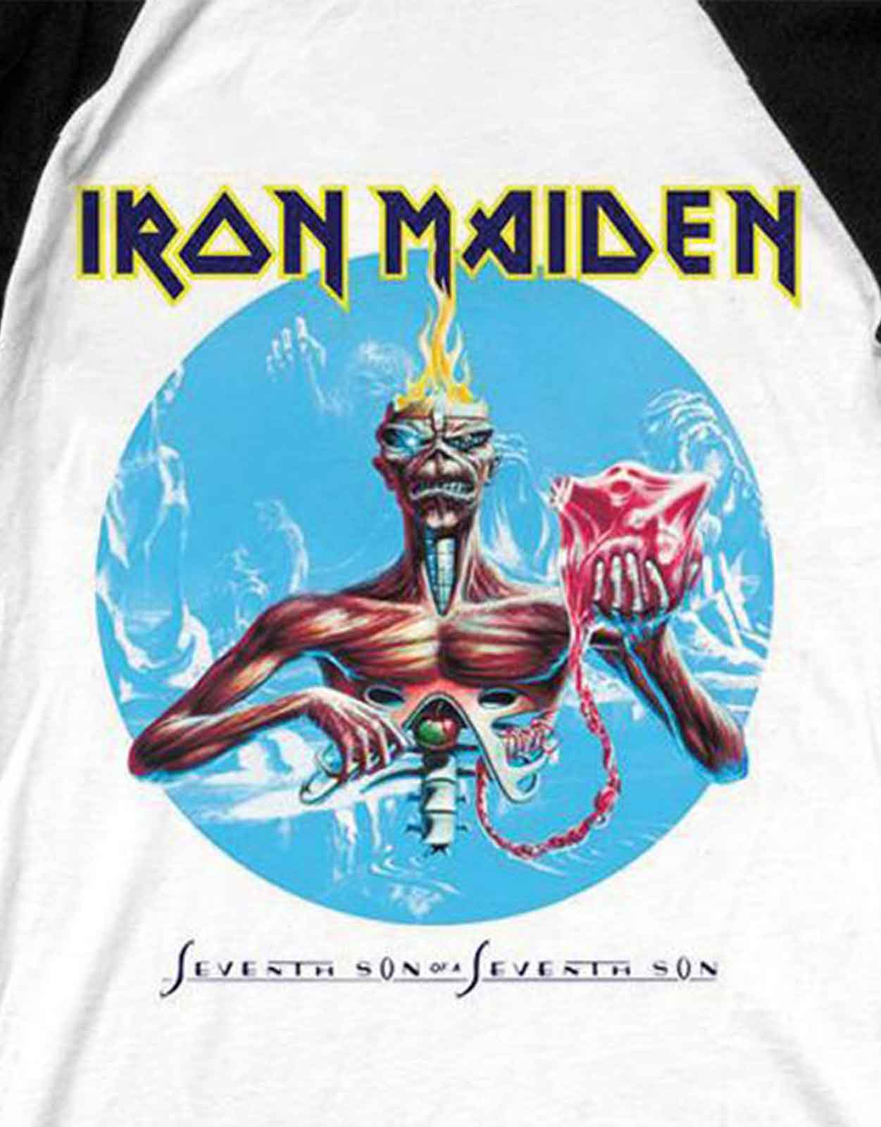 Iron-Maiden-T-Shirt-Homme-Livre-des-ames-piece-of-mind-new-Official-Baseball-Shirt miniature 11