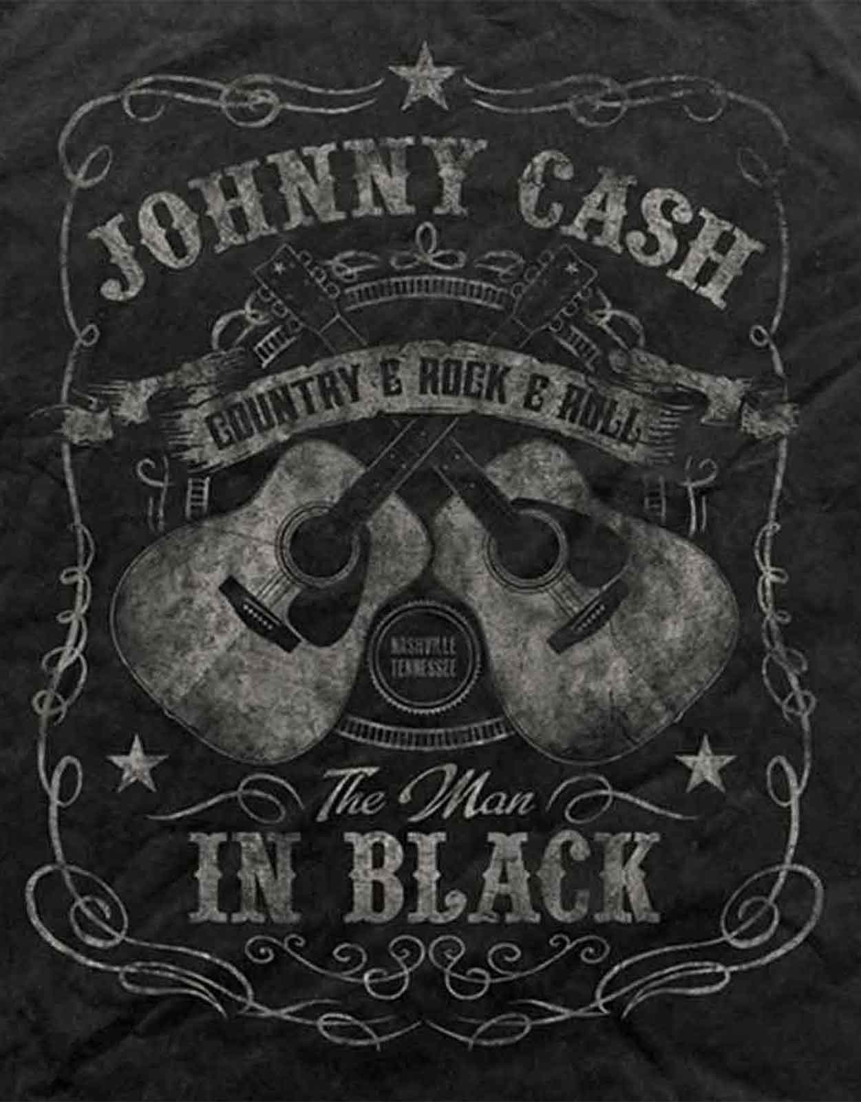 Official Johnny Cash T Shirt Flippin San Quentin Ring Of Fire the bird Mens New