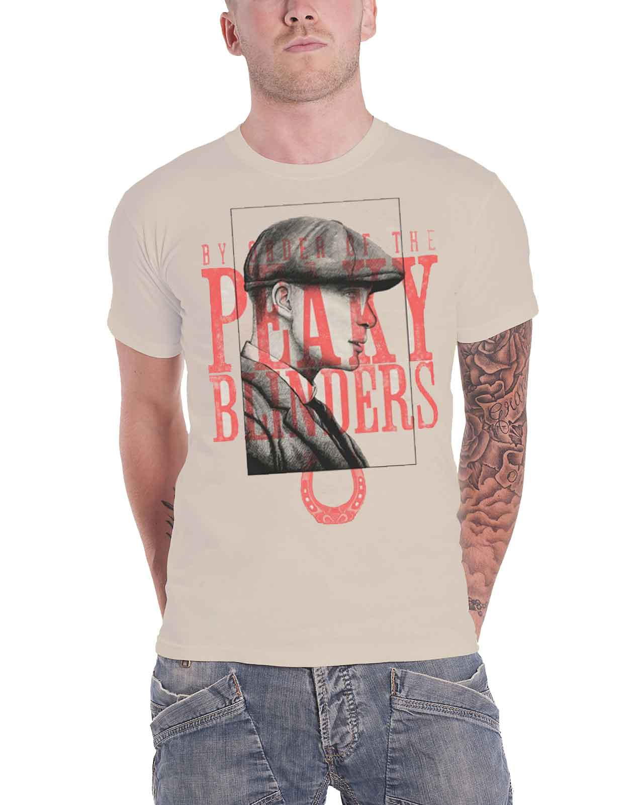 Peaky Blinders /'Red Logo Tommy/' Sand NEW /& OFFICIAL! T-Shirt