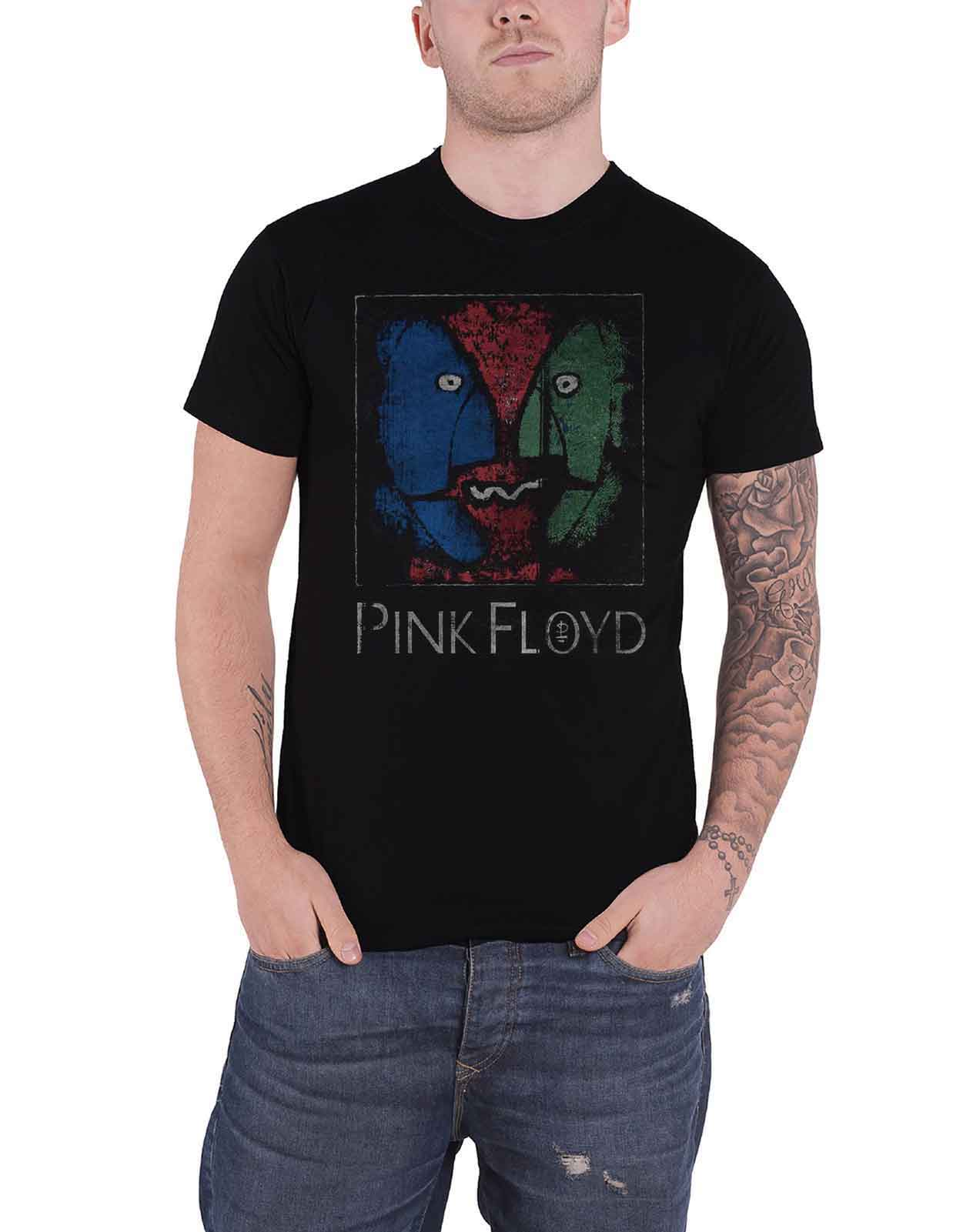 Officiel pink floyd division bell heads t shirt rock dark side of the moon punk