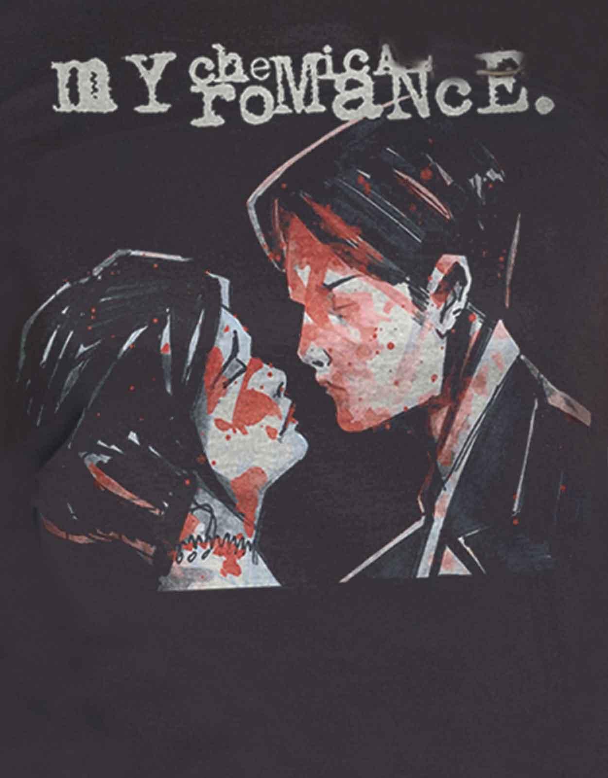 Official-My-Chemical-Romance-T-Shirt-Black-Parade-Band-Logo-Womens-Skinny-Fit thumbnail 14