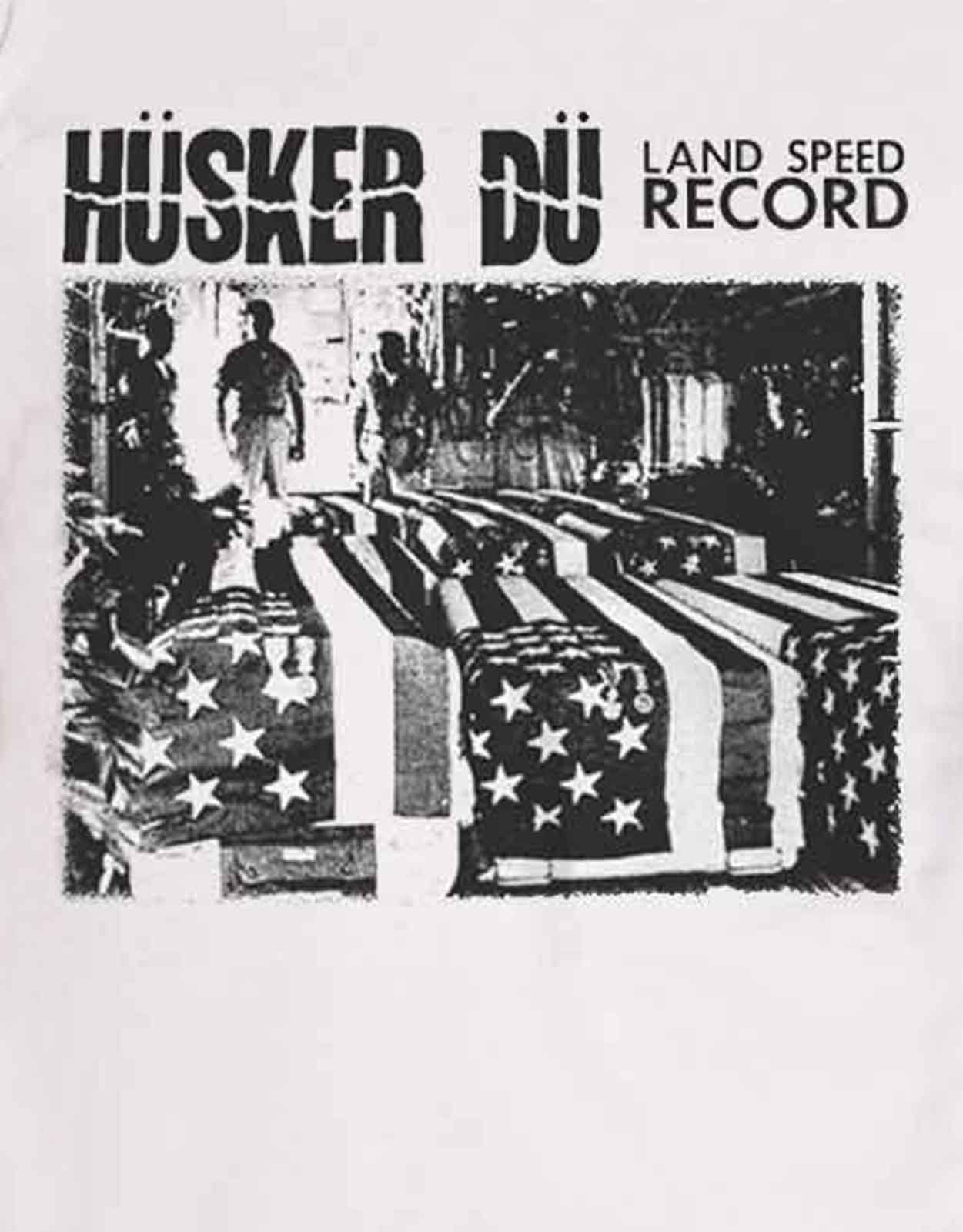Details about Husker Du T Shirt Land Speed Record Band Logo new Official  Mens