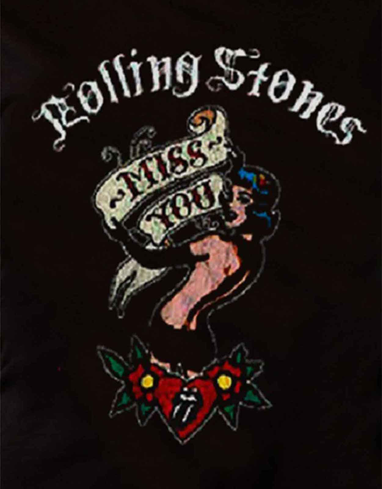 The-Rolling-Stones-T-Shirt-womens-tongue-band-logo-new-official-skinny-fit miniatura 3