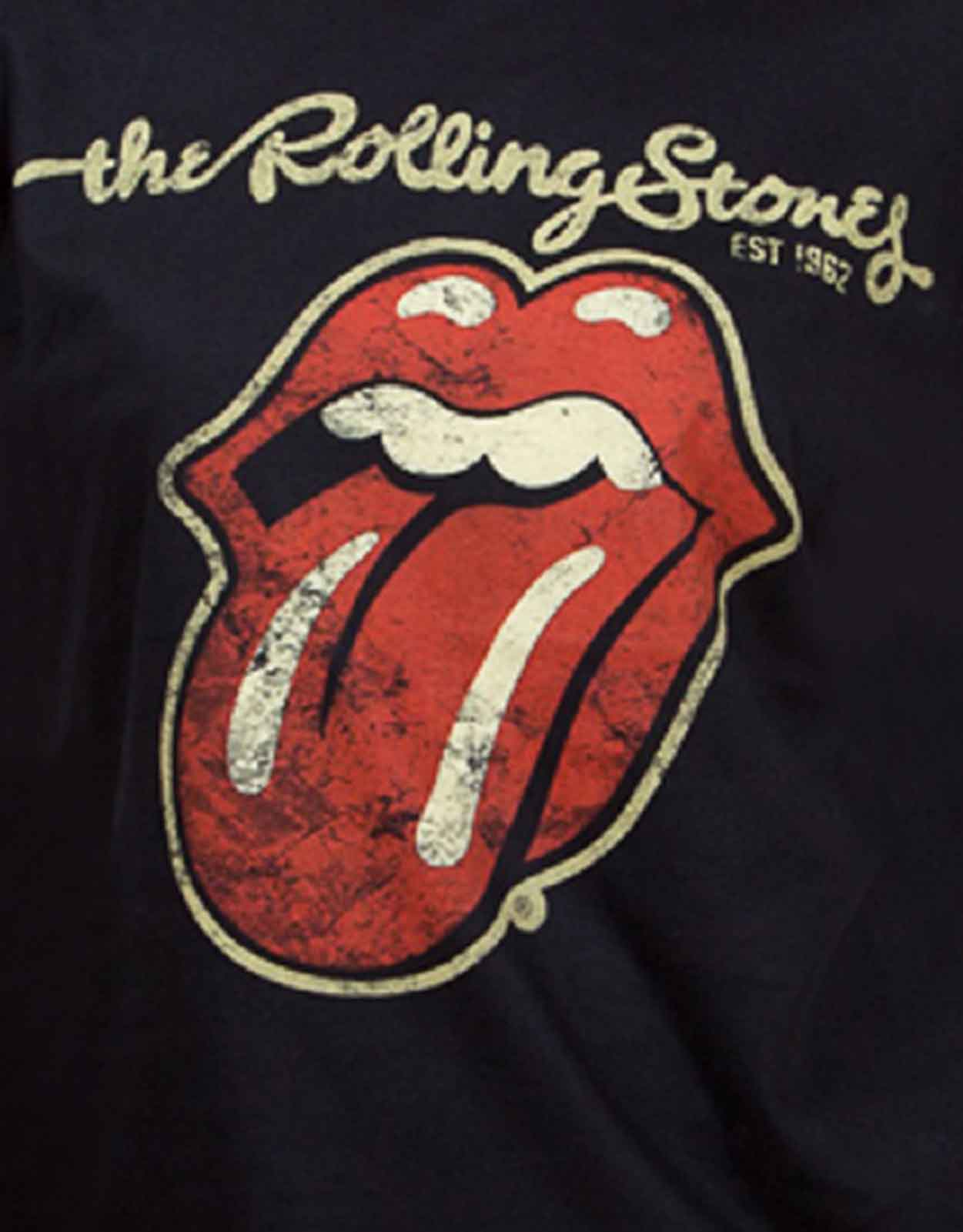 The-Rolling-Stones-T-Shirt-womens-tongue-band-logo-new-official-skinny-fit miniatura 5
