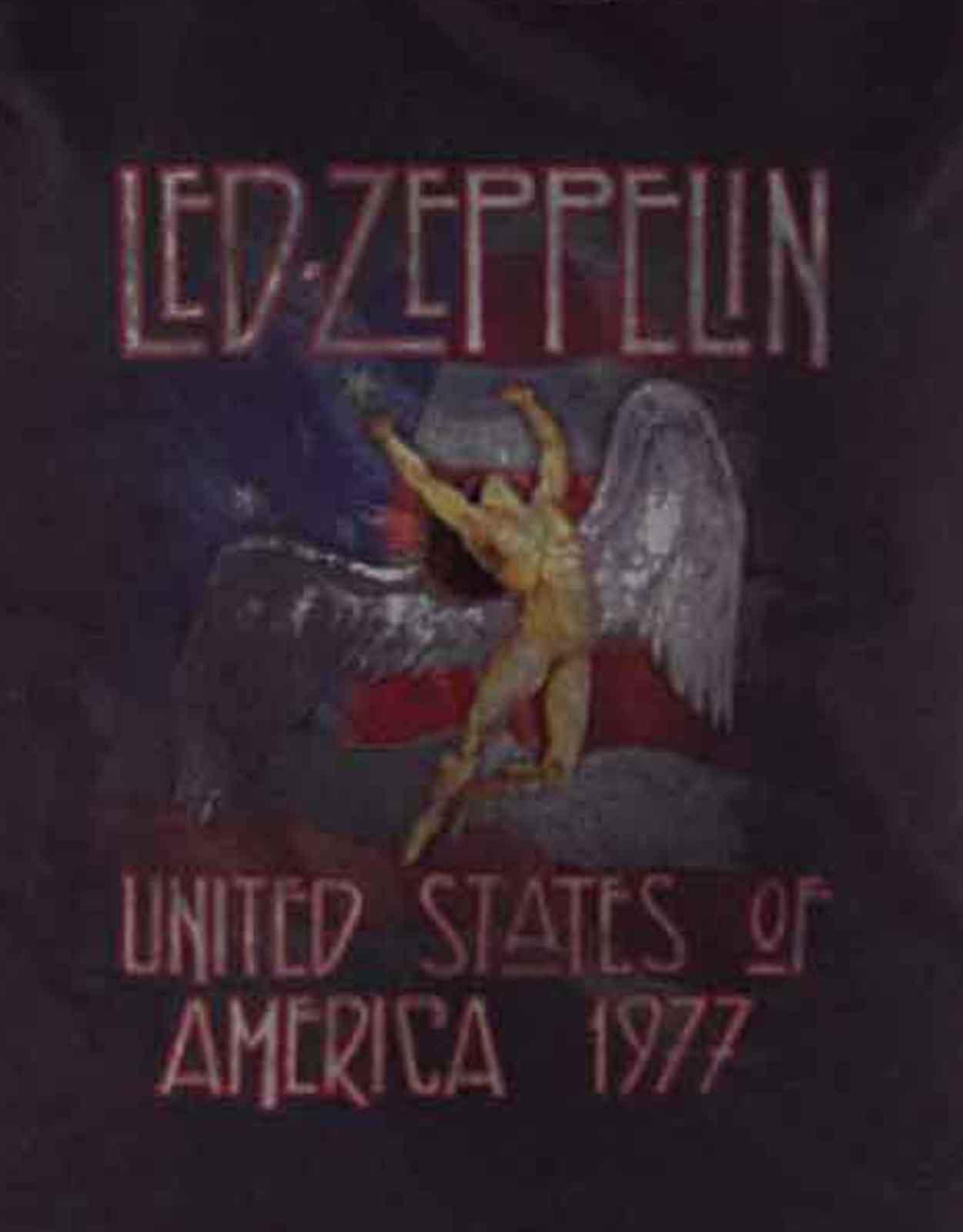 9ff59074 Led Zeppelin T Shirt Stars N Stripes Logo new Official Womens Skinny Fit  Black
