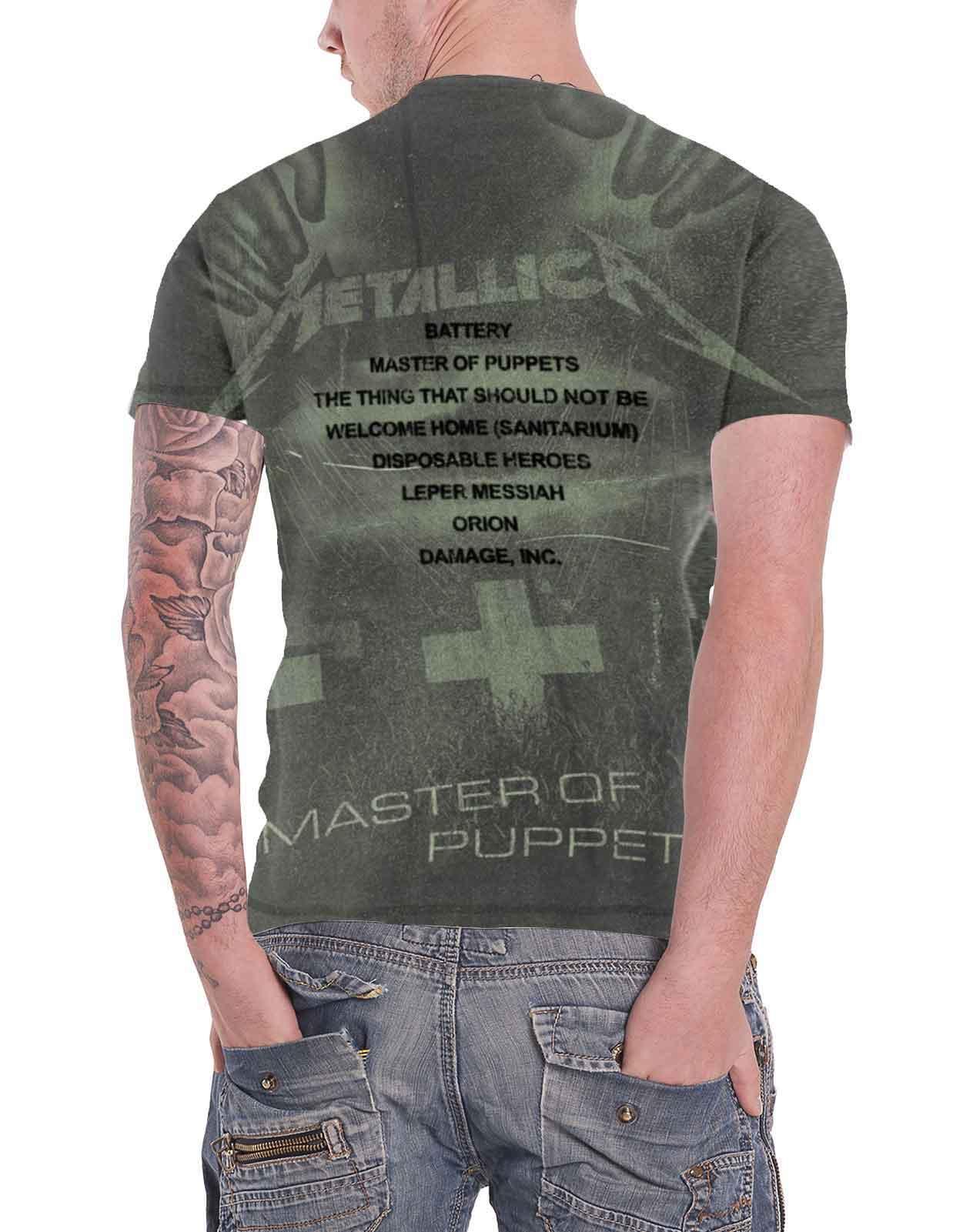 Officiel-Metallica-T-shirt-filaire-justice-for-all-RTL-Band-Logo-Homme-Nouveau miniature 35