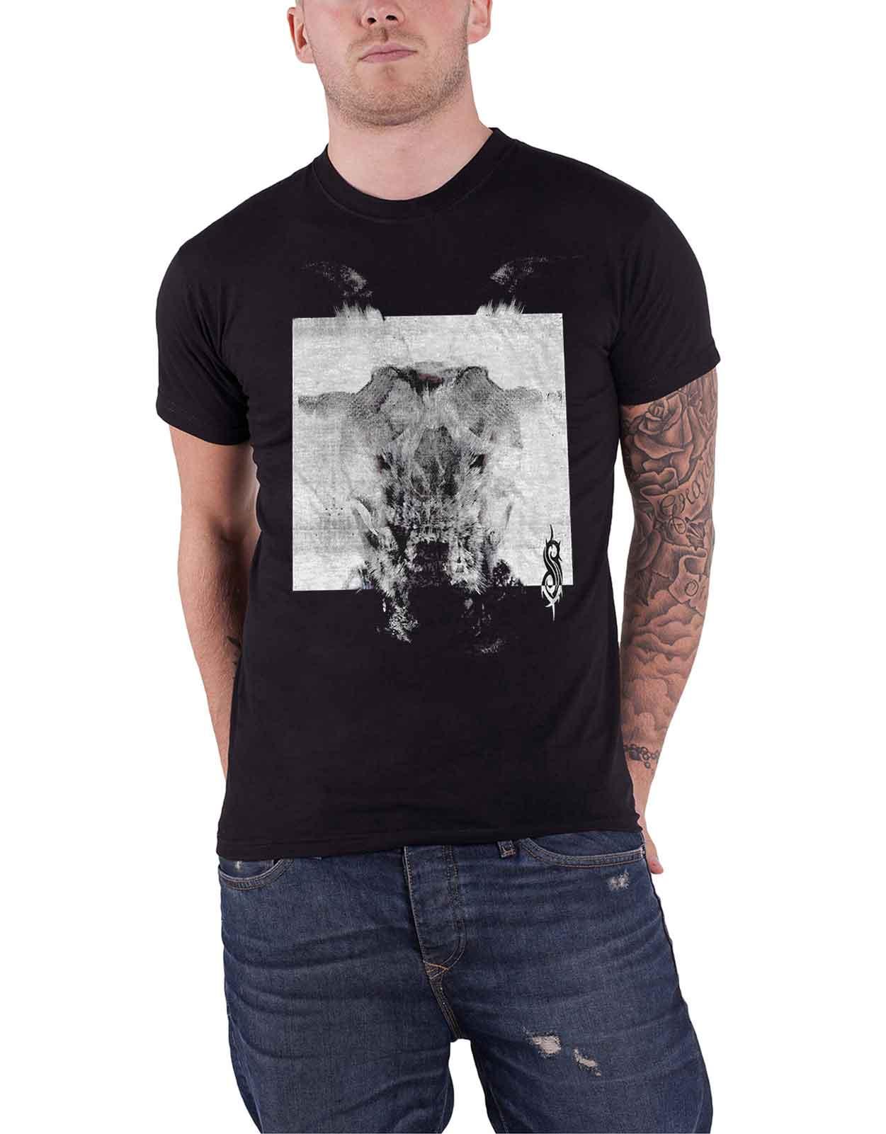 Details about Slipknot T Shirt All Out Life Devil Single Black & White new  Official Mens Black