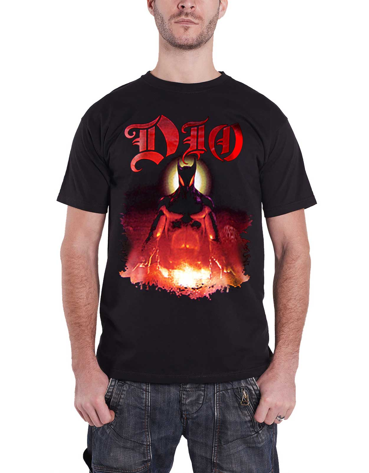 DIO-T-Shirt-The-last-in-line-Holy-Diver-Band-Logo-Ronnie-James-homme-NEUF