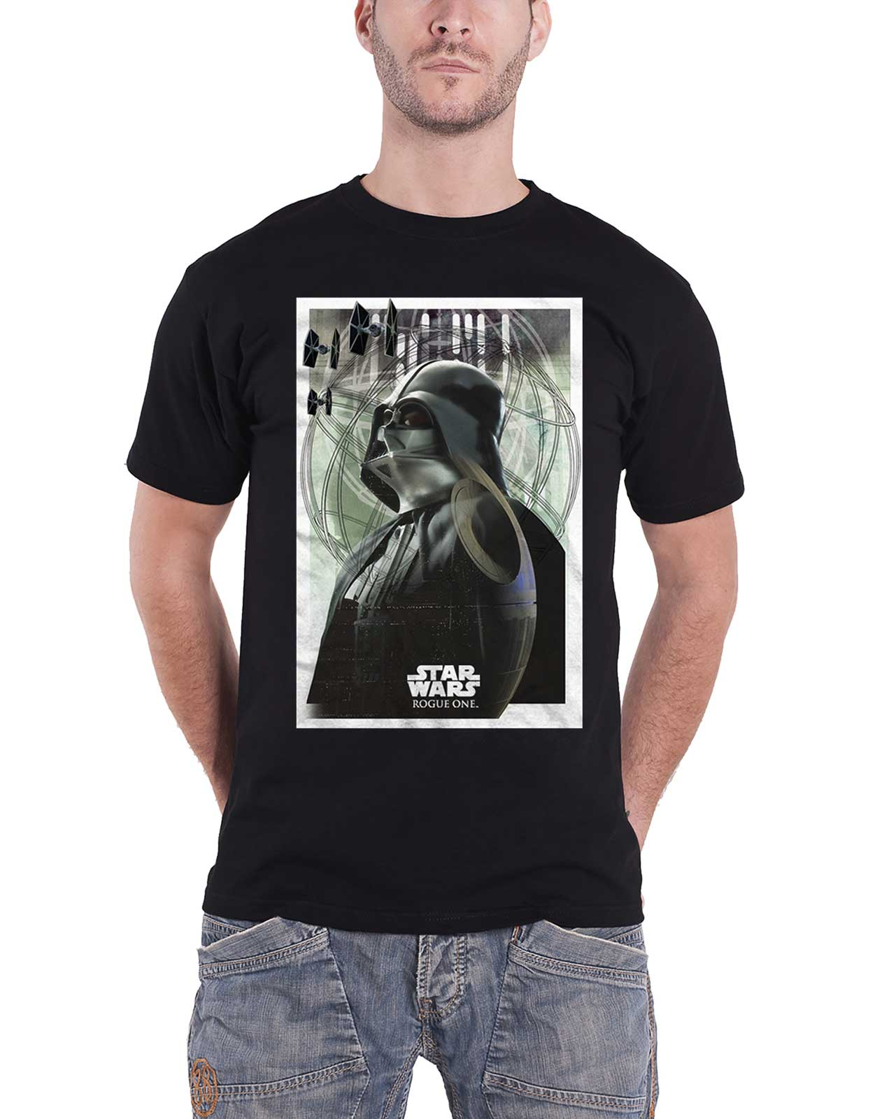 Star-Wars-T-Shirt-Darth-Vader-Prime-Forces-Rogue-One-new-Official-Mens-Black