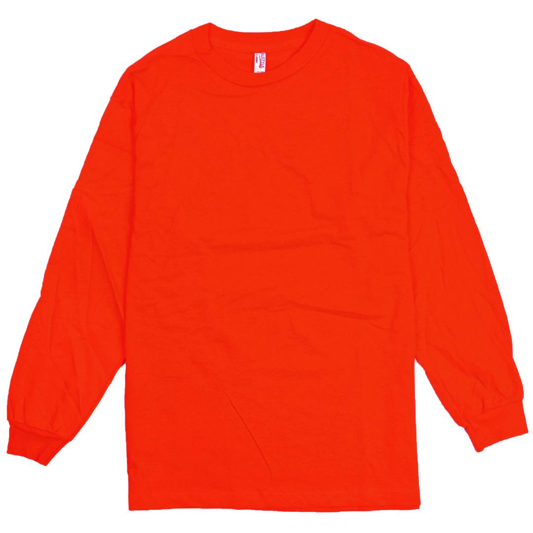 Alstyle Apparel AAA Plain Blank Men's Long Sleeve T-shirt Style ...