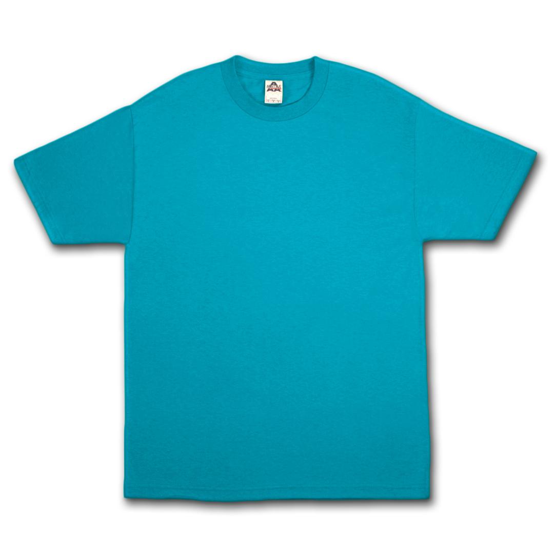 Alstyle apparel aaa plain blank men 39 s short sleeve t shirt for Aqua blue color t shirt
