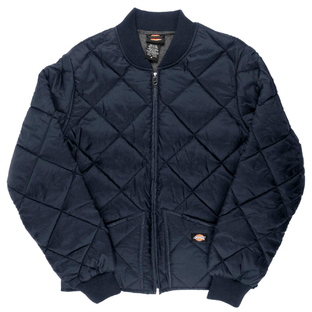 Dickies 61242 Diamond Quilted Nylon Jacket Large Dark Navy Ebay