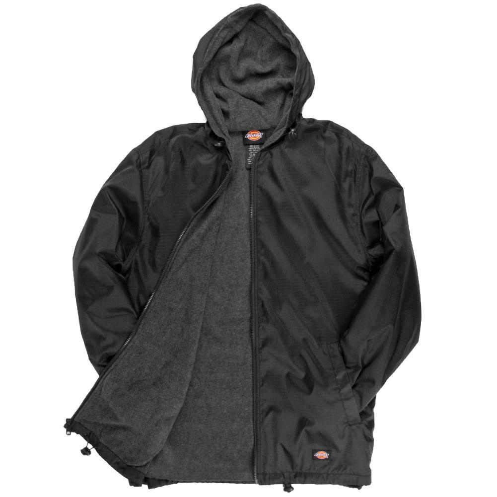 Dickies-Fleece-Lined-Nylon-Hooded-Windbreaker-Men-039-s-Zip-Up-Jacket-Style-33237 thumbnail 3