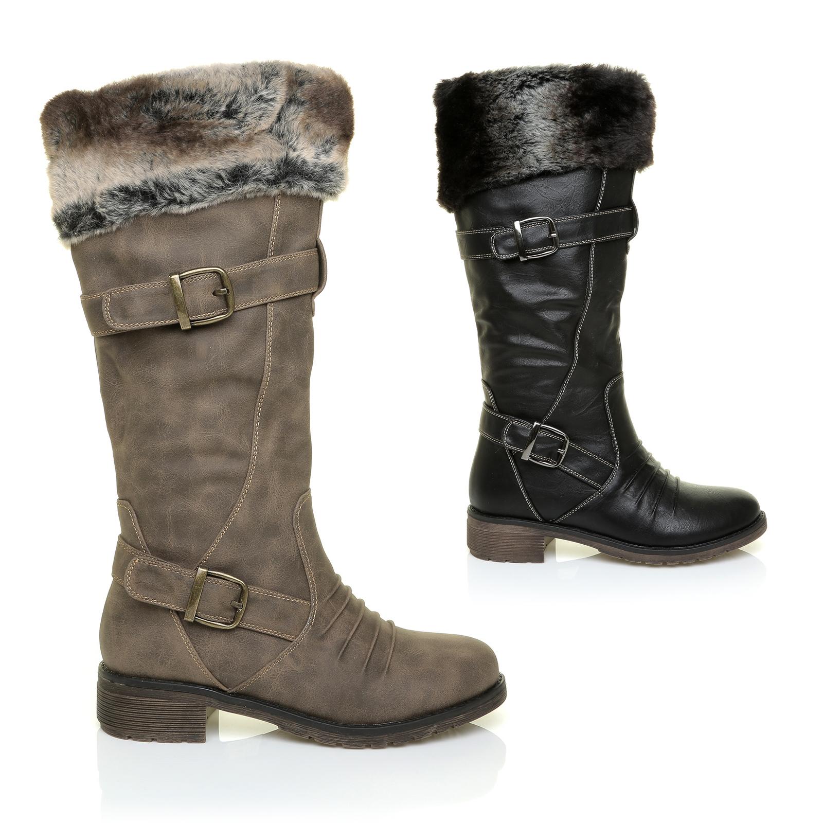 Ladies Shoe With Faux Fur Trim