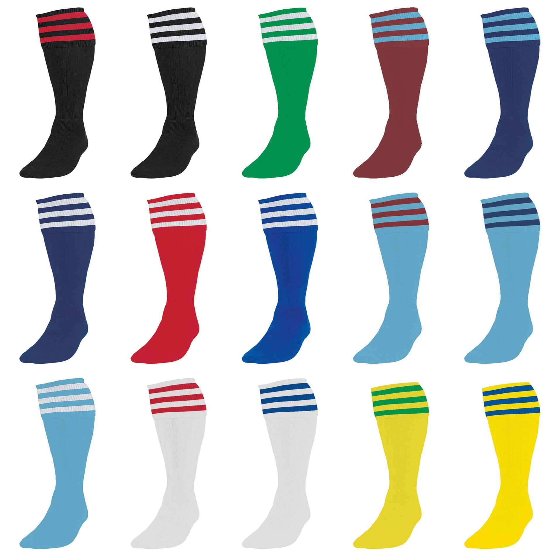 Mens Youths Plain Football Team Socks Training Knee Club Sports Boys Adults