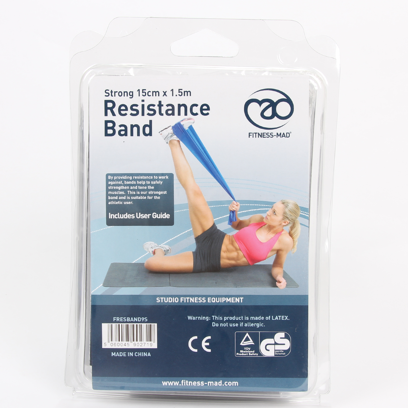 Fitness-Mad Latex Resistance Bands For Training Pilates