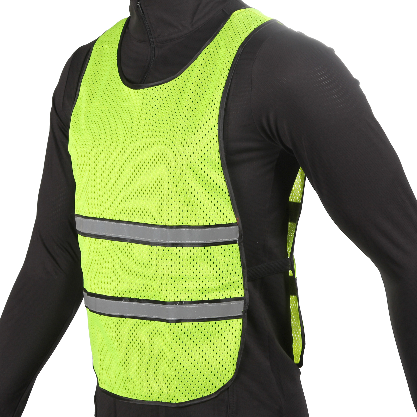 precision running reflective vest bib high viz pink or yellow one size ebay. Black Bedroom Furniture Sets. Home Design Ideas